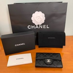New Chanel Classic Flap Coin Purse Wallet